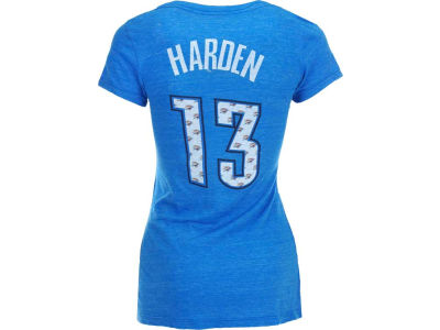Oklahoma City Thunder James Harden NBA Womens V-neck Triblend Player T-Shirt