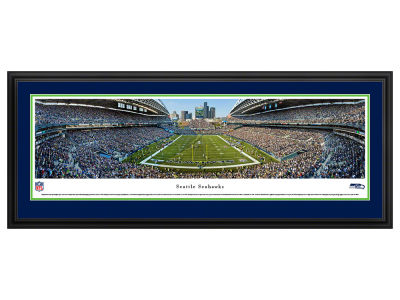 Seattle Seahawks Panoramic Deluxe Framed