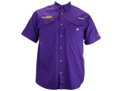 LSU Tigers Columbia NCAA Short Sleeve Bonehead Shirt