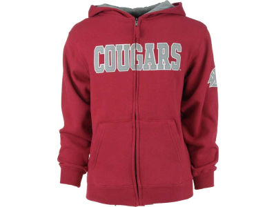 Washington State Cougars NCAA Youth Block Full Zip Hoodie