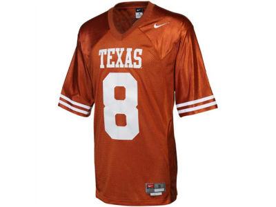 Texas Longhorns #8 Nike NCAA Twill Football Jersey