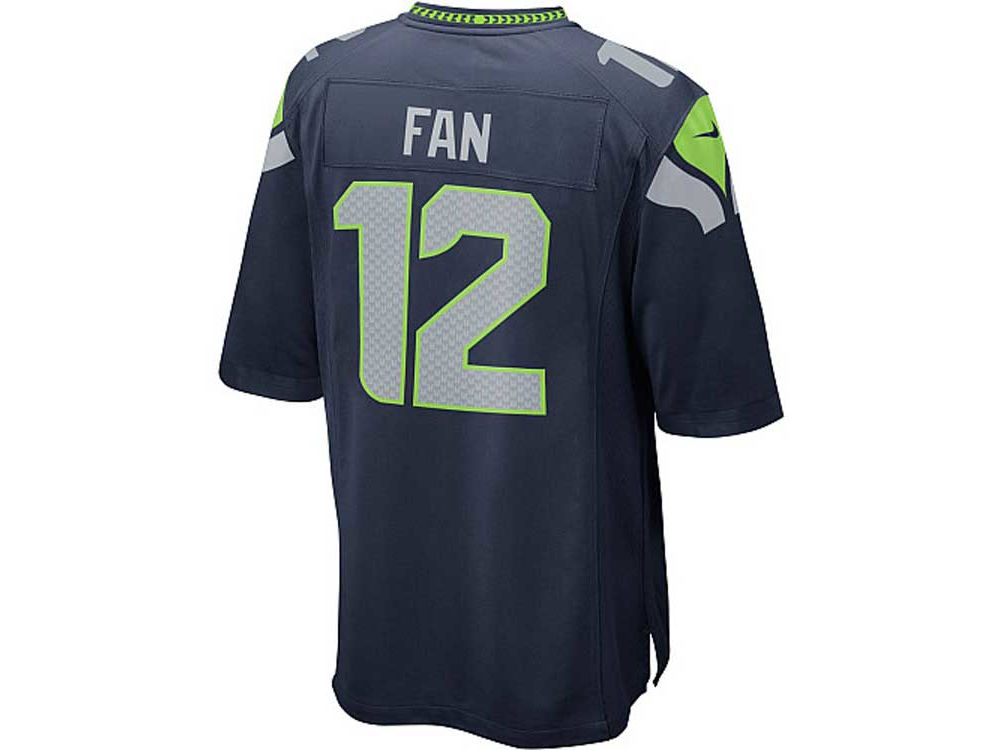 dd8130c0fe2 ... Seattle Seahawks Fan 12 Nike NFL Mens Game Jersey ...