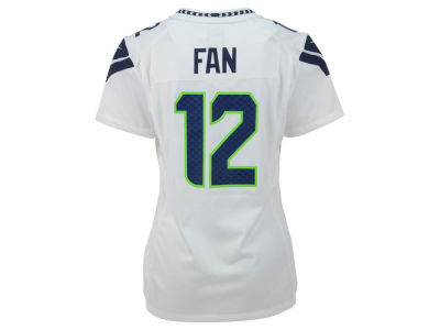 Seattle Seahawks Fan #12 Nike NFL Women's Game Jersey