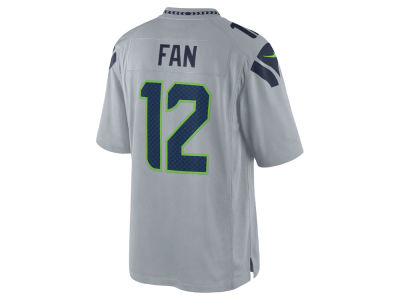 Seattle Seahawks Fan #12 Nike NFL Men's Limited Jersey