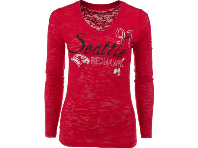 Seattle Redhawks Blue 84 NCAA Womens Long Sleeve T-Shirt