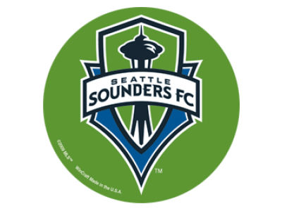 Seattle Sounders FC Round Vinyl Decal