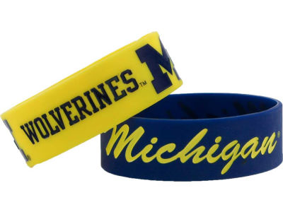 Michigan Wolverines Aminco 2-pack Wide Bracelet