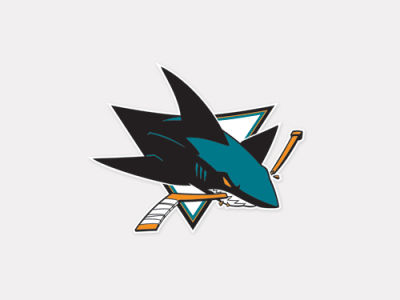 San Jose Sharks 4x4 Die Cut Decal Color