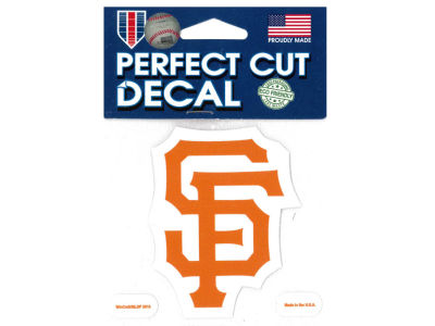 San Francisco Giants 4x4 Die Cut Decal Color