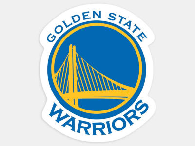 Golden State Warriors 4x4 Die Cut Decal Color