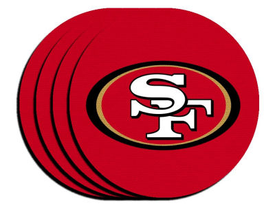 San Francisco 49ers 4-pack Neoprene Coaster Set
