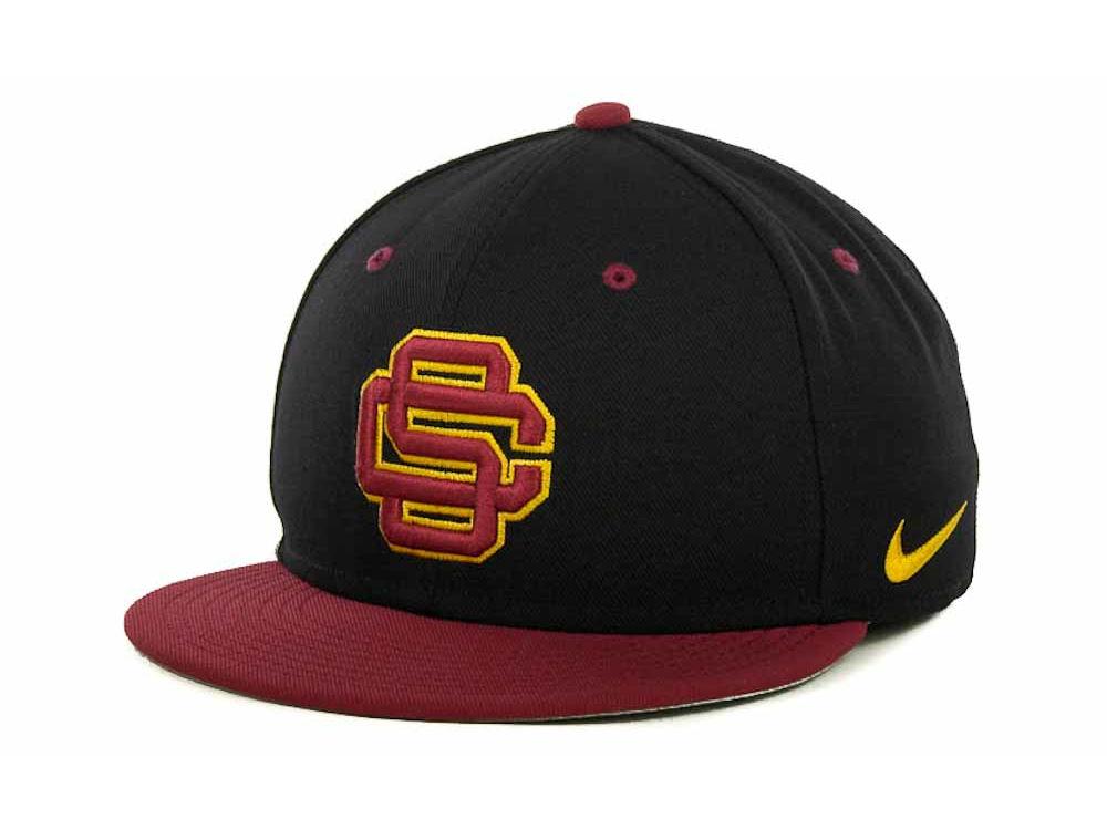 cheap for discount b3f9c 1a4c8 ... discount usc trojans nike ncaa nike team sports authentic fitted  baseball cap f2edb 19b3b