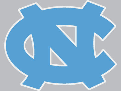 North Carolina Tar Heels 4x4 Die Cut Decal Color