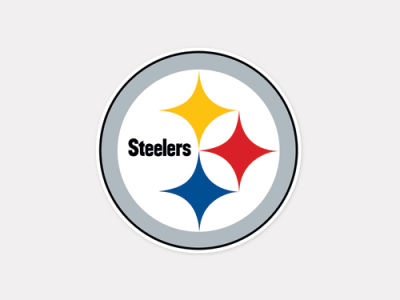 Pittsburgh Steelers 4x4 Die Cut Decal Color