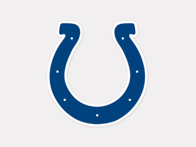 Indianapolis Colts 4x4 Die Cut Decal Color