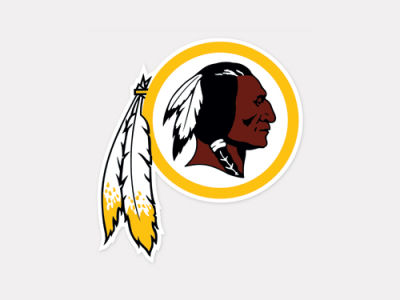 Washington Redskins 4x4 Die Cut Decal Color