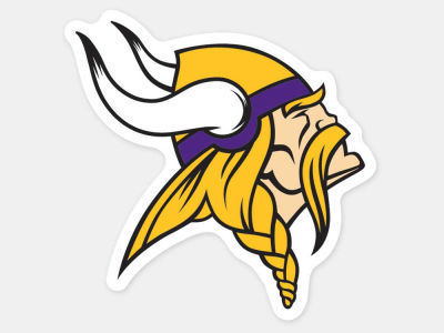 Minnesota Vikings 4x4 Die Cut Decal Color