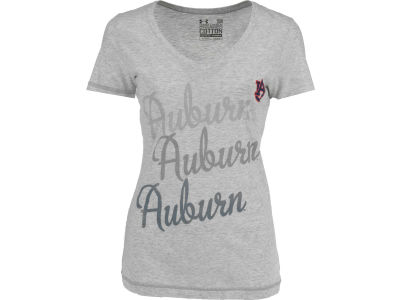 Auburn Tigers NCAA UA Womens CC V-Neck T-Shirt