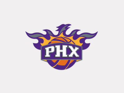 Phoenix Suns 4x4 Die Cut Decal Color