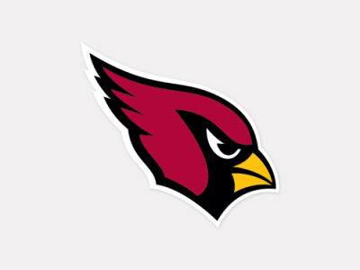 Arizona Cardinals 4x4 Die Cut Decal Color