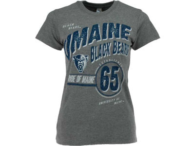 Maine Black Bears NCAA Womens Industrial Heathered T-Shirt
