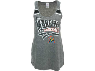 Miami Marlins 5th & Ocean MLB Women's Tri-Blend Racer Tank