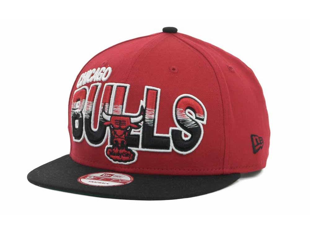 dddd8d85b9b Chicago Bulls New Era NBA Hardwood Classics Split Line 9FIFTY Snapback Cap