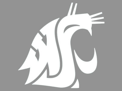 "Washington State Cougars Die Cut Decal 8""x8"""