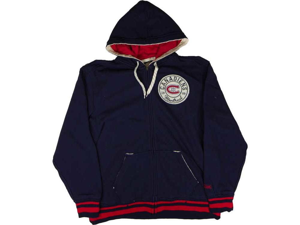 Montreal Canadiens Reebok NHL CN CCM Full Zip Hoodie  686e35569