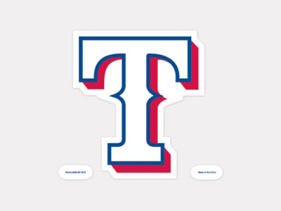 Texas Rangers 4x4 Die Cut Decal Color