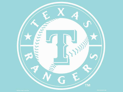 "Texas Rangers Die Cut Decal 8""x8"""