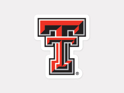 Texas Tech Red Raiders 4x4 Die Cut Decal Color