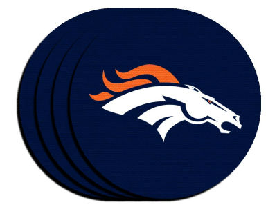 Denver Broncos 4-pack Neoprene Coaster Set