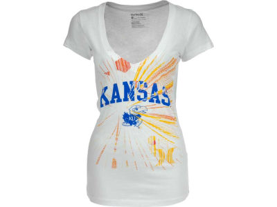 Kansas Jayhawks Hurley NCAA Ladies Hurley Burst V T-Shier
