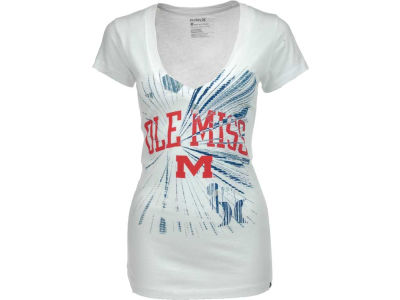 Ole Miss Rebels Hurley NCAA Ladies Hurley Burst V T-Shier