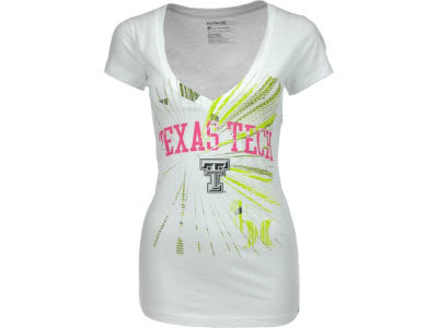 Texas Tech Red Raiders Hurley NCAA Ladies Hurley Burst V T-Shier