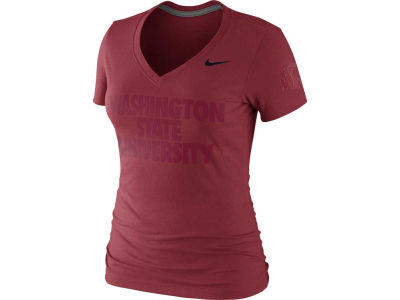 Washington State Cougars Nike NCAA Symbol Tri Blend Vneck T-Shirt