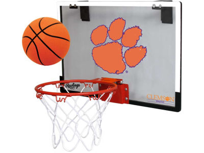 Clemson Tigers Game On Polycarb Hoop Set