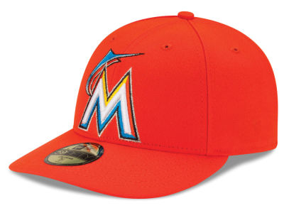 Miami Marlins New Era MLB Low Profile AC Performance 59FIFTY Cap