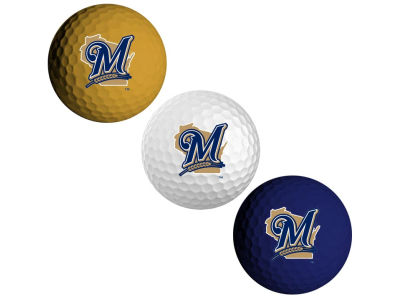Milwaukee Brewers 3-pack Golf Ball Set