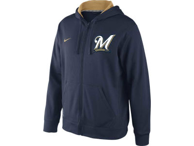 Milwaukee Brewers Nike MLB Men's KO Full Zip Hoodie