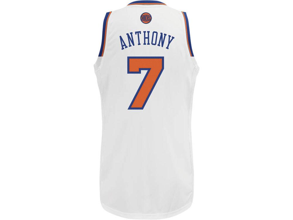 New York Knicks Carmelo Anthony adidas NBA Revolution 30 Swingman Jersey  92446e9bc
