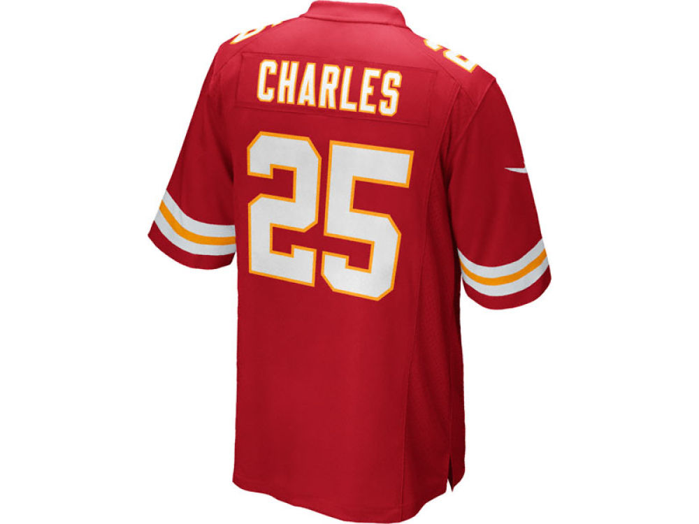 Nike NFL Kansas City Chiefs Jamaal Charles Men's Replica Jersey