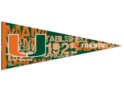 Miami Hurricanes Wincraft 12x30in Pennant