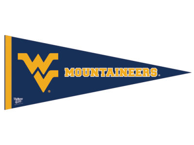 West Virginia Mountaineers 12x30in Pennant