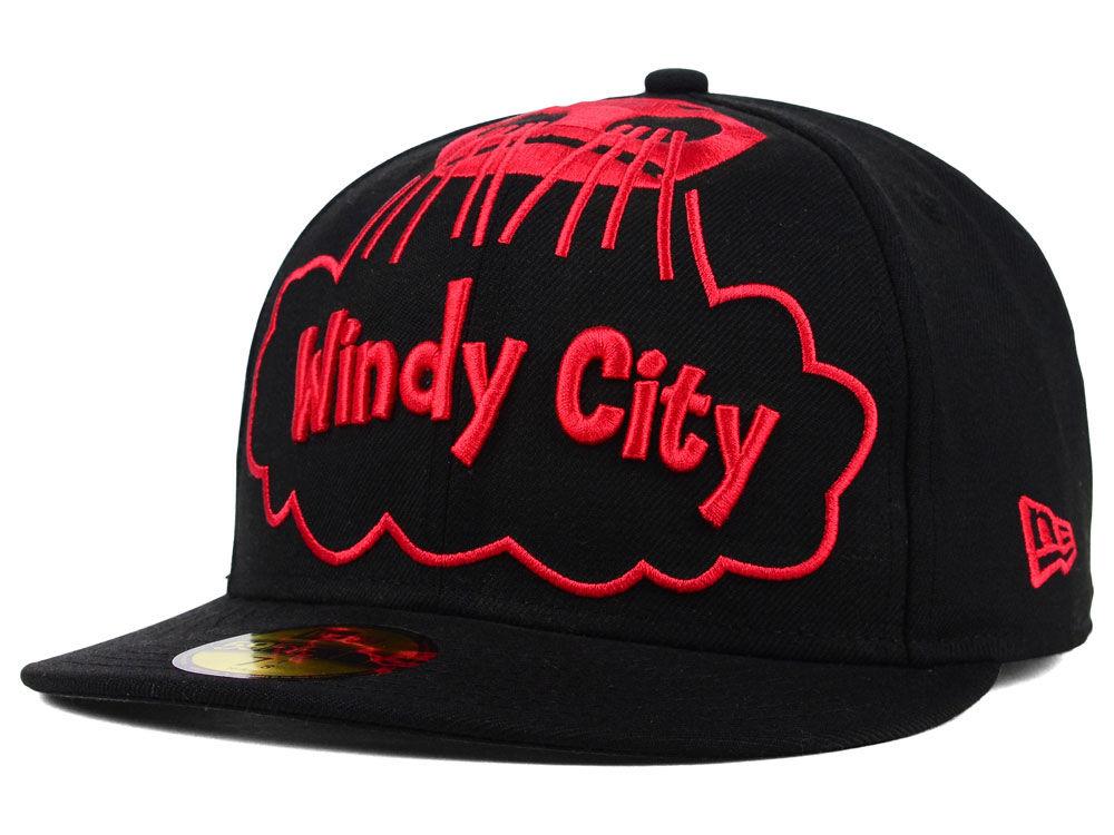 f14089cf9d8 Chicago Bulls New Era NBA HWC Windy City 59FIFTY Cap