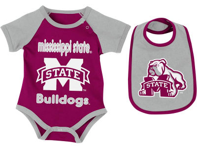 Mississippi State Bulldogs NCAA Newborn Junior Creeper/Bib Set