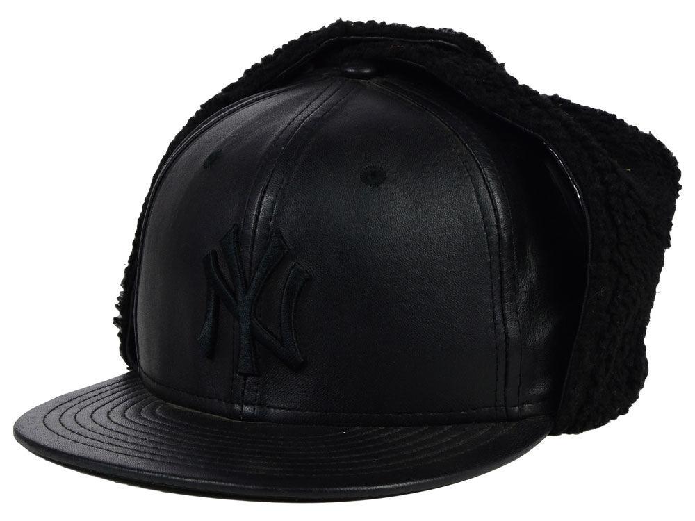 New York Yankees New Era MLB Leather Dog Ear 59FIFTY Cap  7f7ffe628
