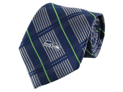 Seattle Seahawks Necktie Woven Poly Plaid