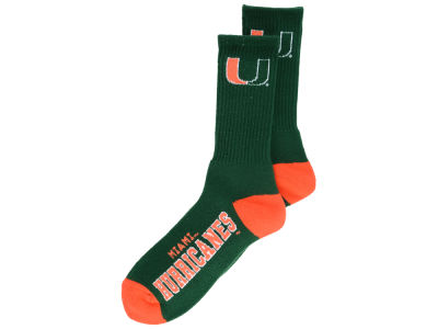 Miami Hurricanes Deuce Crew 504 Socks